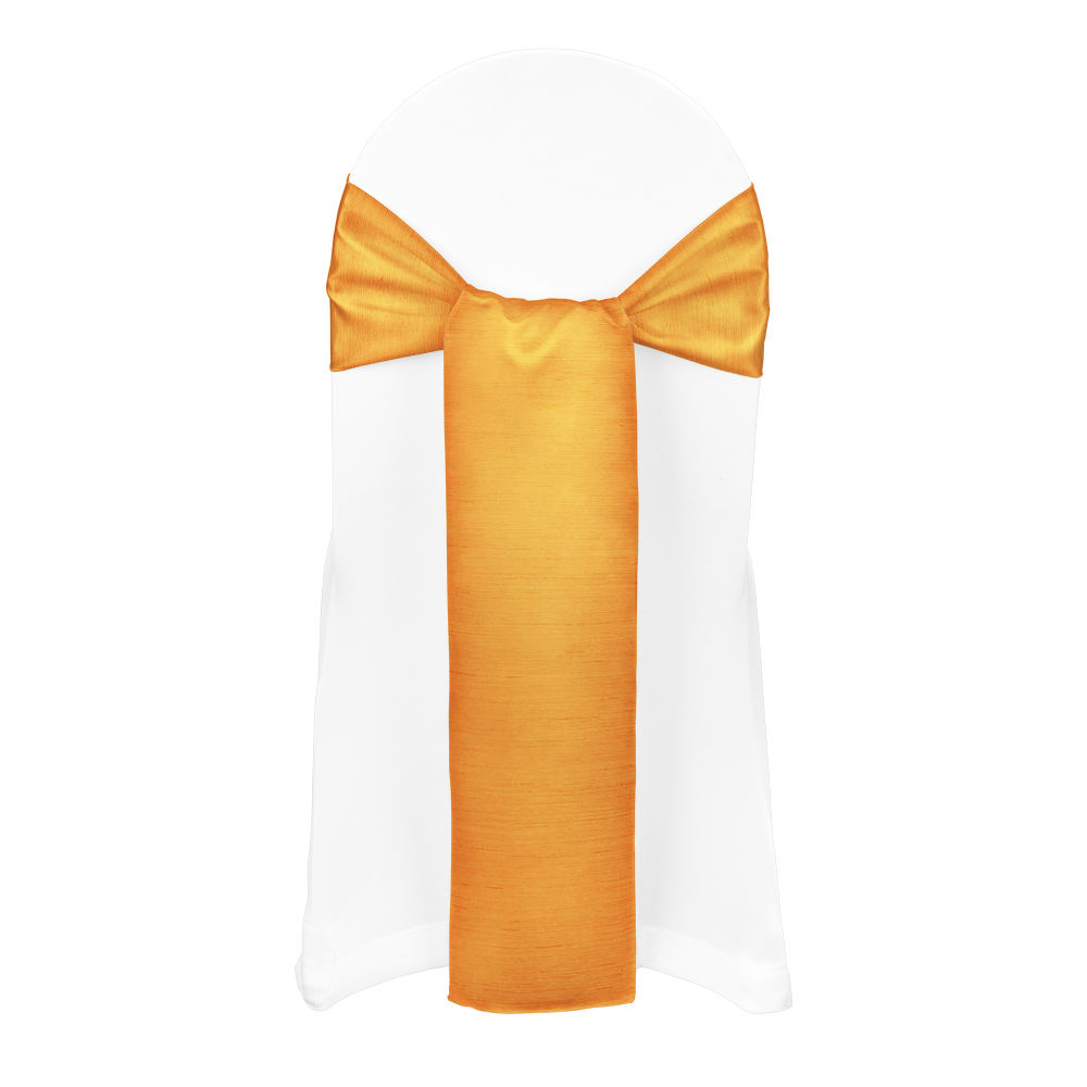 Orange Faux Dupioni Sash