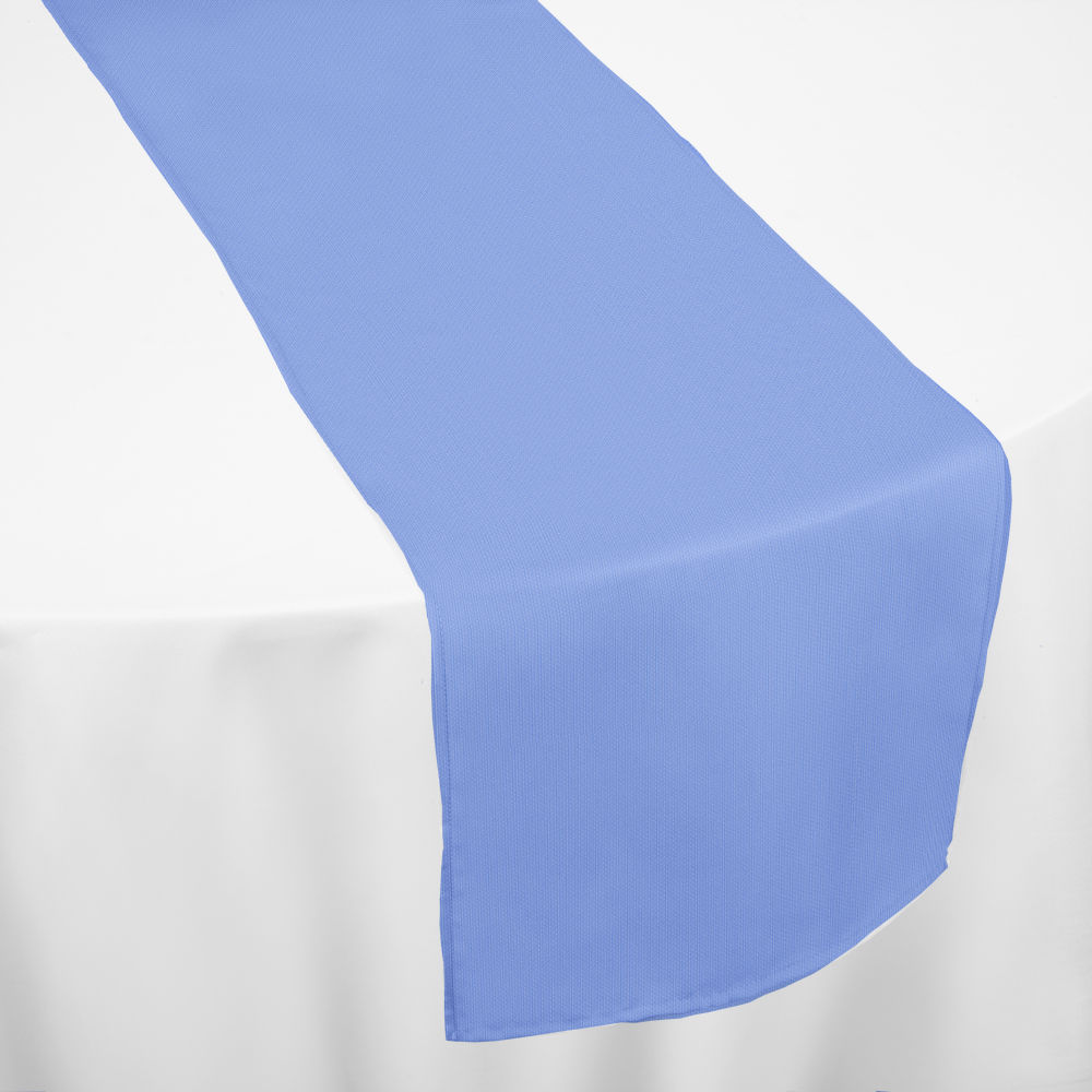 Periwinkle Classic Linen Table Runner