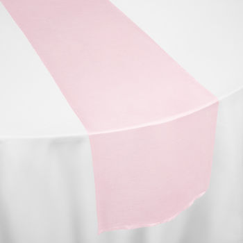 Pink Faux Dupioni Table Runner