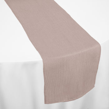 Pink Pearl Bengaline Moire Table Runner