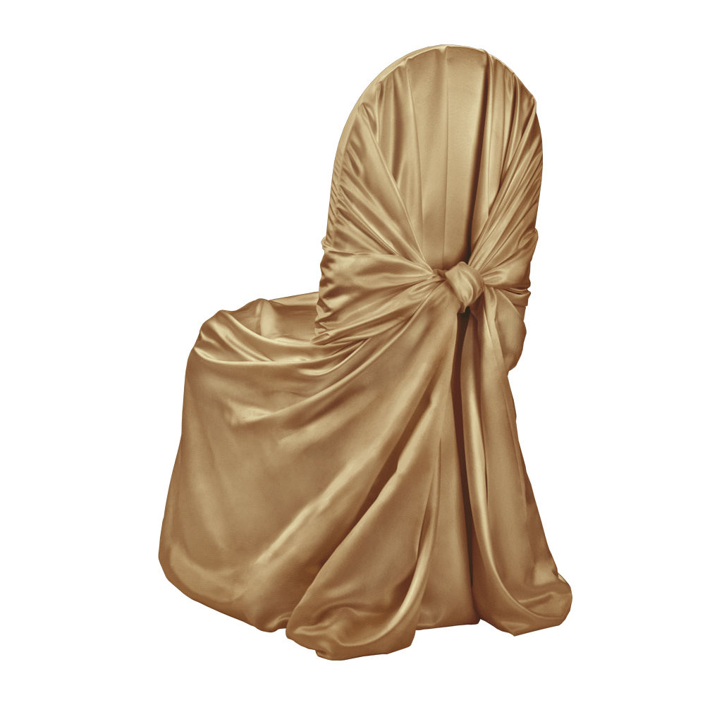 Plateau Gold Duchess Satin Chair Cover