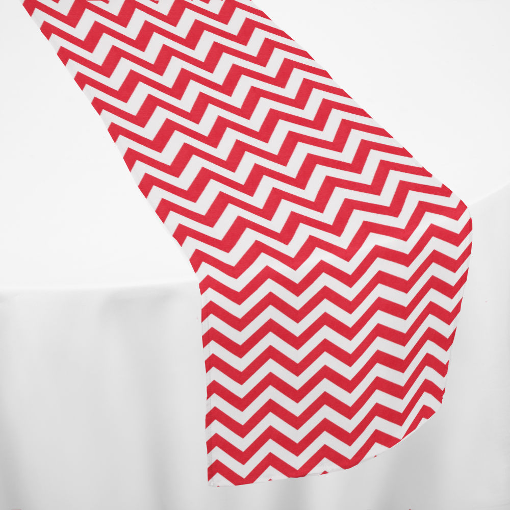 Red Chevron Table Runner