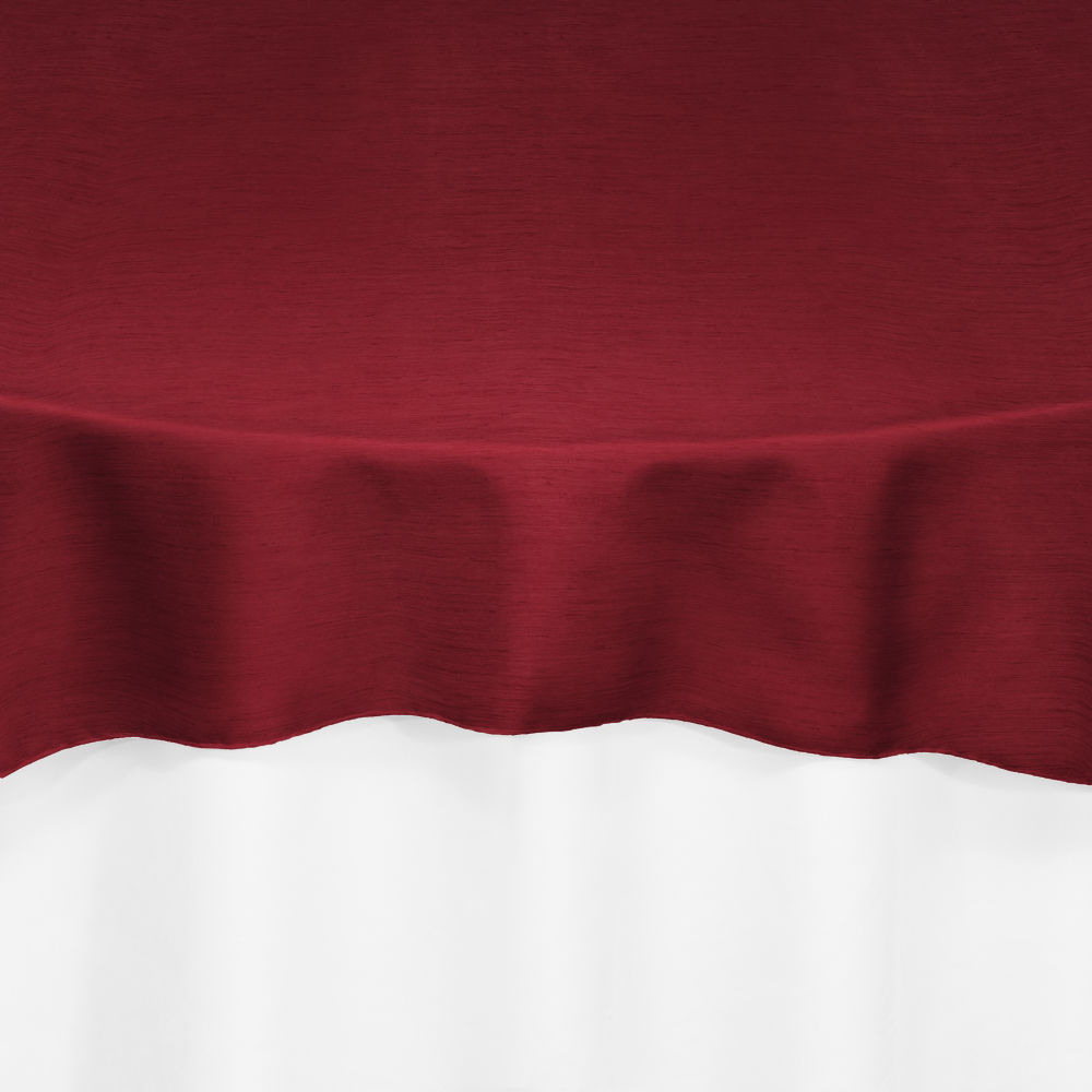 Red Faux Dupioni Overlay