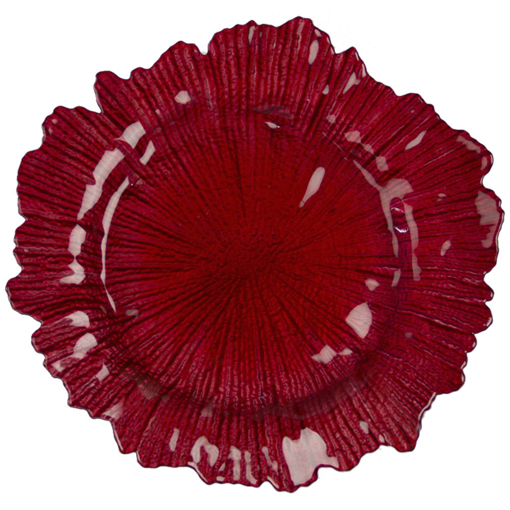 Red Oyster Charger Plate