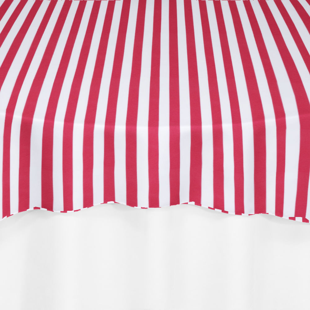 Red Printed Stripe Overlay