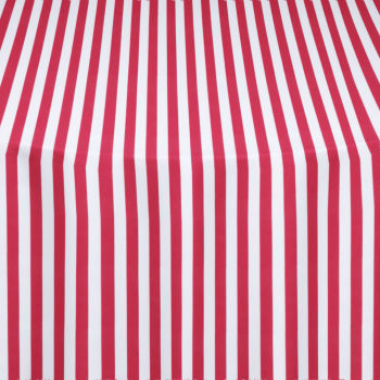 Red Printed Stripe Table Linen