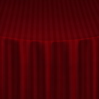 Red Satin Stripe Table Linen