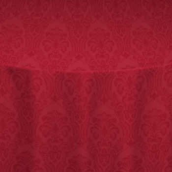 Red Wellington Damask Table Linen