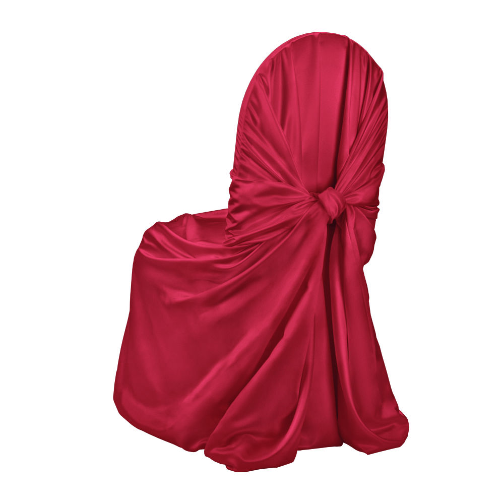 Roja Red Duchess Satin Chair Cover