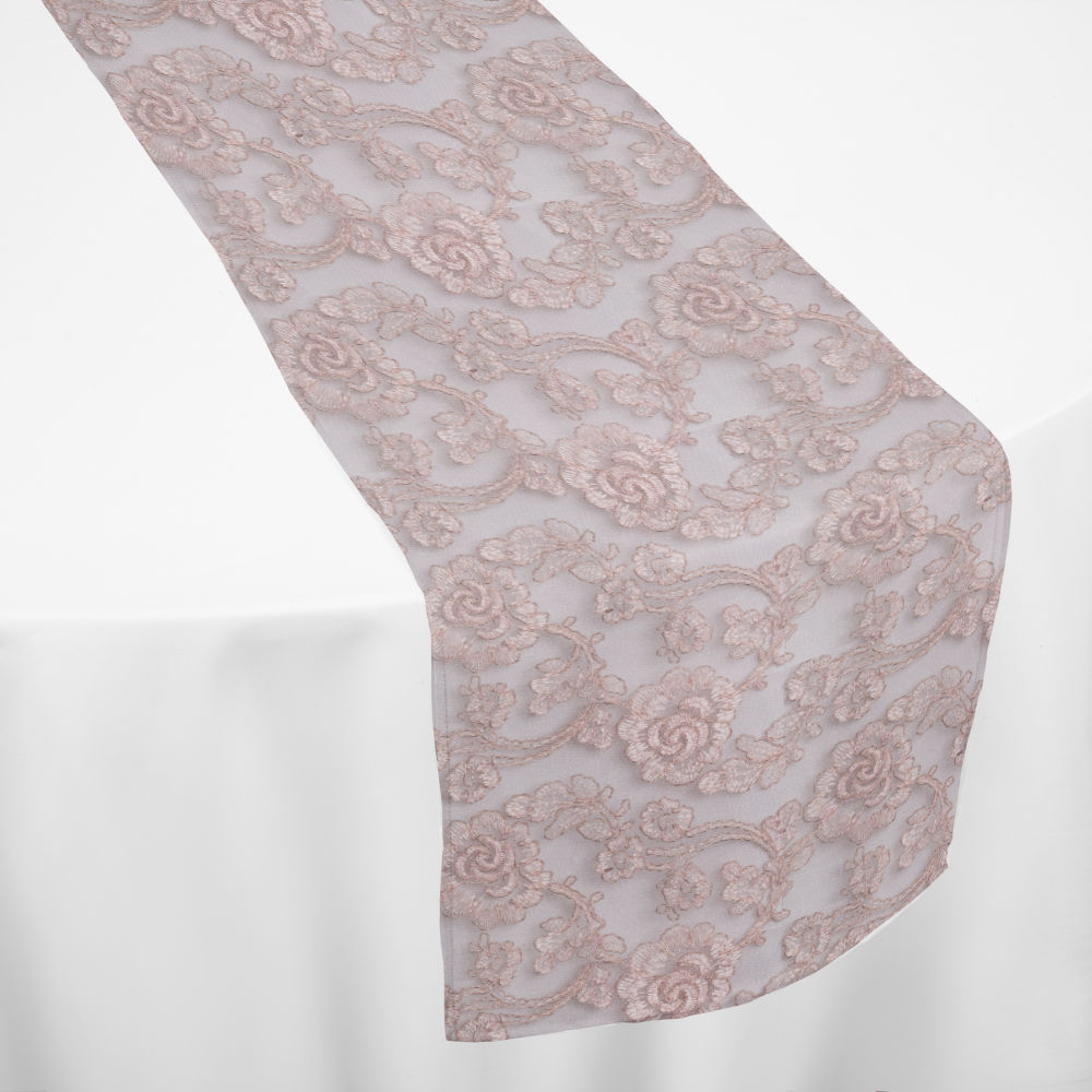 Peachy Rose Gold Leto Table Runner By Chair Covers Linens Alphanode Cool Chair Designs And Ideas Alphanodeonline