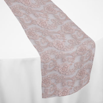 Rose Gold Leto Lace Table Runner