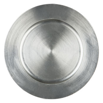 Silver Basic Charger Plate