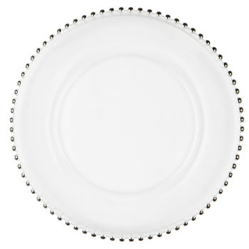 Silver Beaded Rim Charger Plate