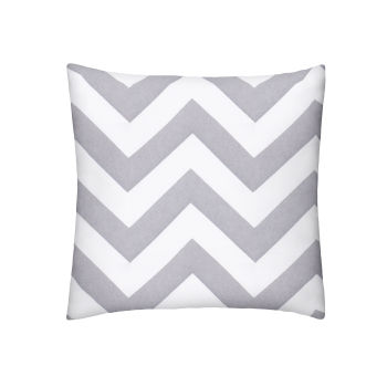 Silver Chevron Pillow