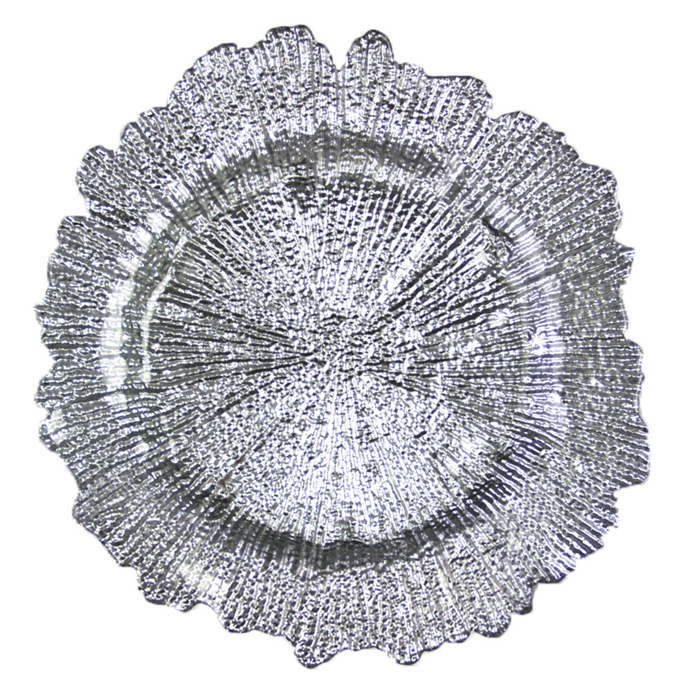 Silver Oyster Charger Plate
