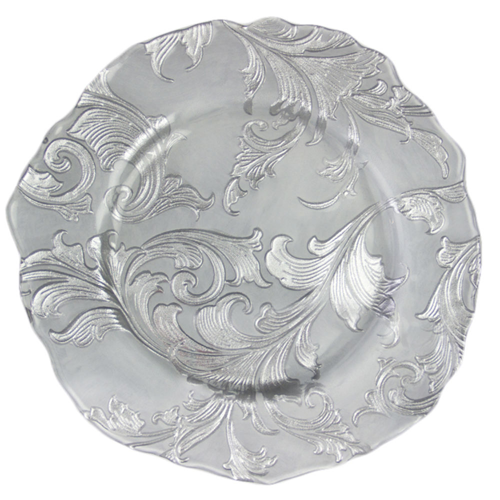 Silver Parisian Charger Plate