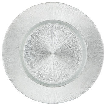 Silver Starburst Charger Plate