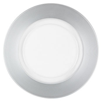 Silver Thick Rim Charger Plate