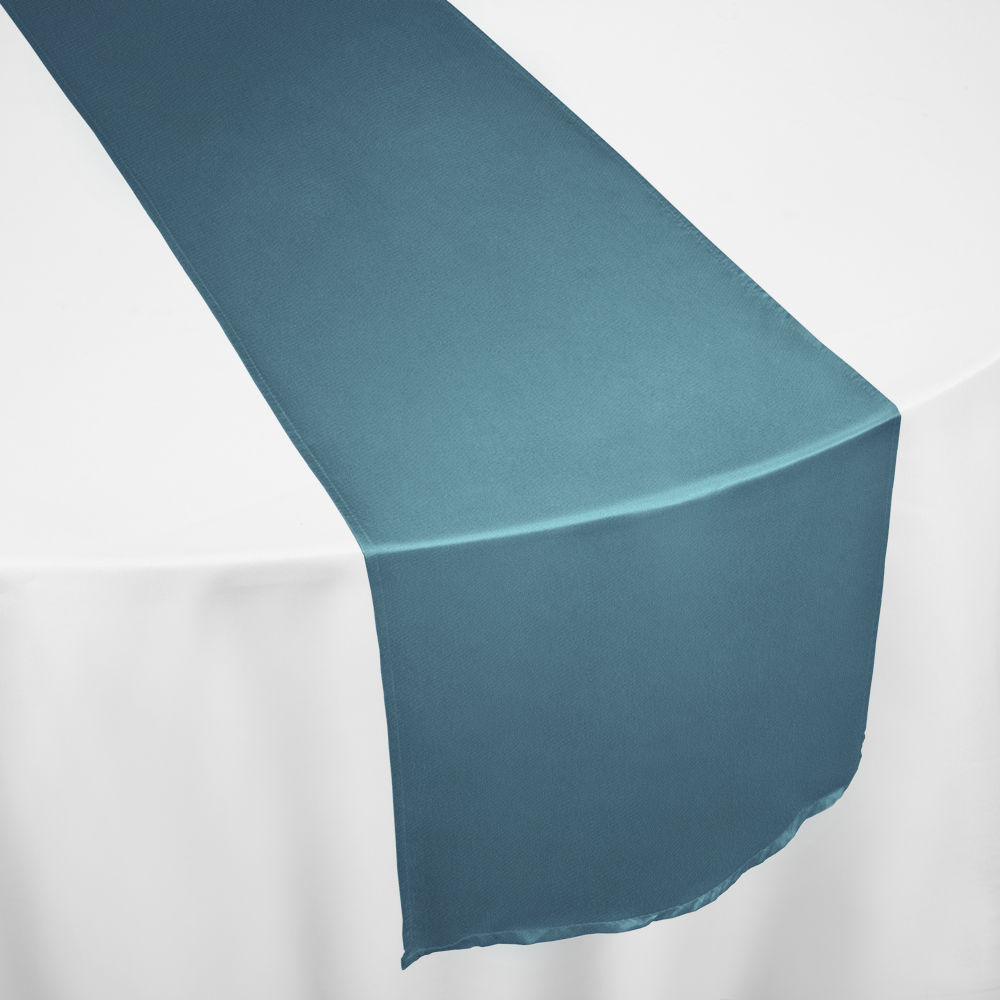 Slate Duchess Satin Table Runner