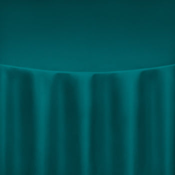 Teal Duchess Satin Table Linen