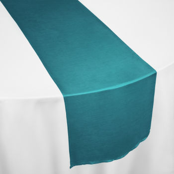 Teal Faux Dupioni Table Runner