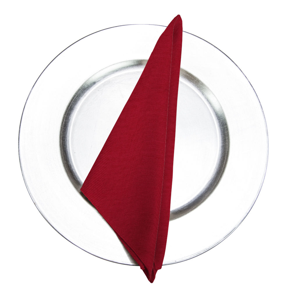 Turkey Red Bengaline Moire Napkin
