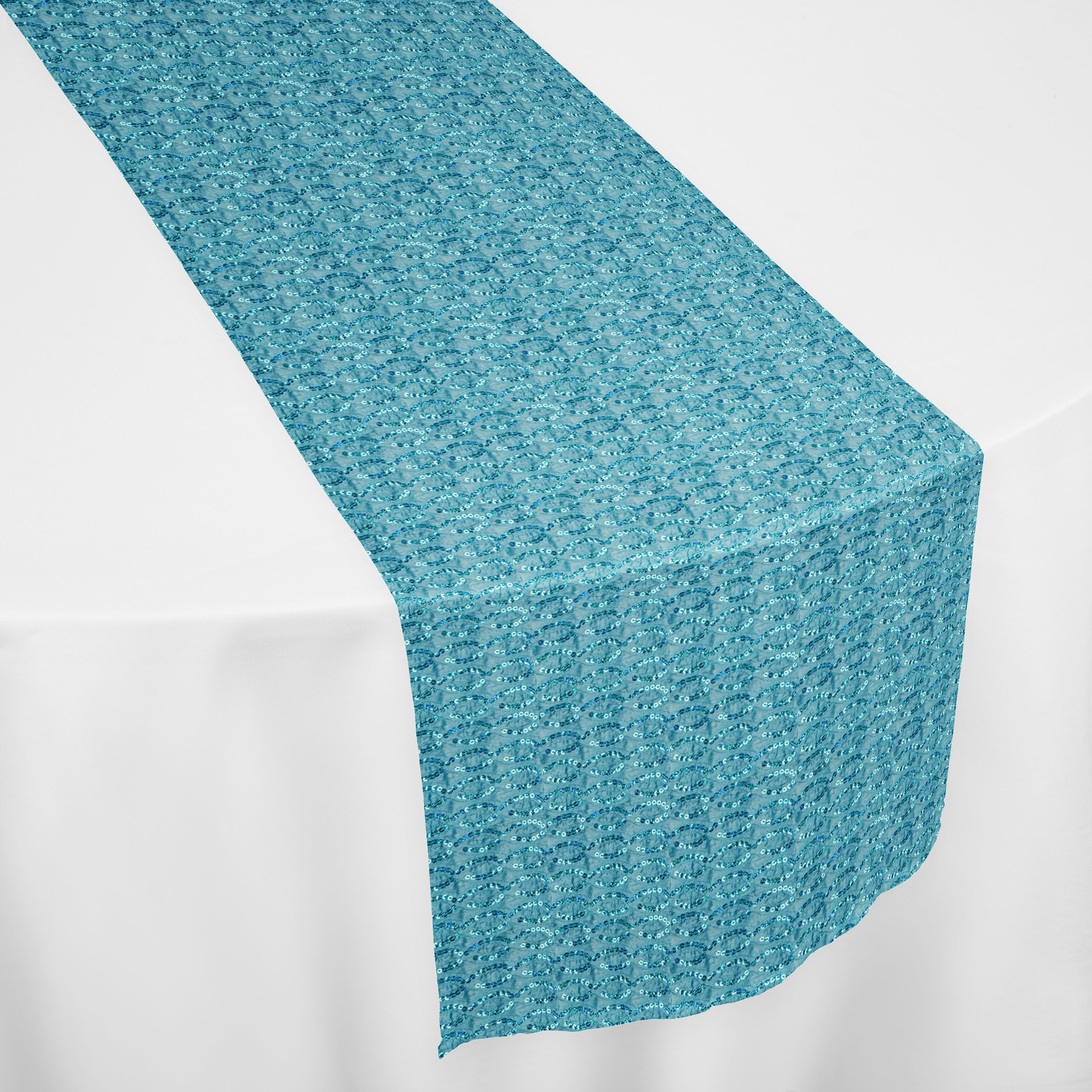 Turquoise Blitz Table Runner By Chair Covers Amp Linens