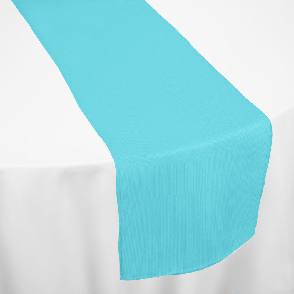 Turquoise Classic Linen Table Runner