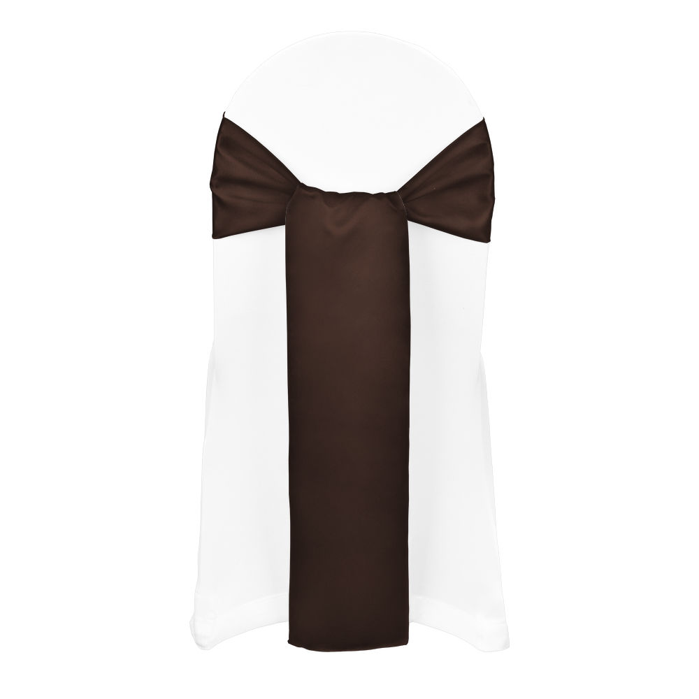 Ultra Brown Duchess Satin Sash