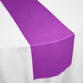 Ultra Grape Duchess Satin Table Runner
