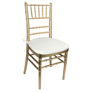 White Classic Linen Chair Pad