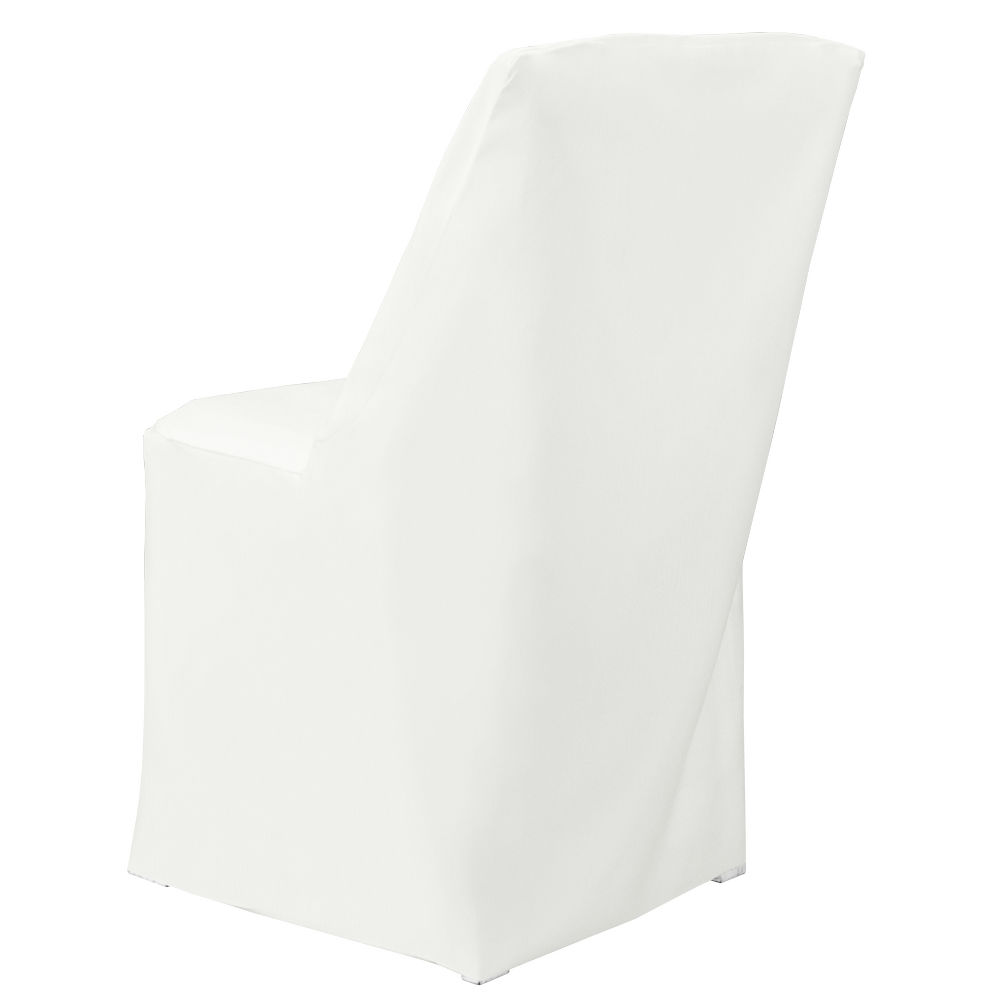 White Classic Linen Folding Square Chair Cover by Chair Covers & Linens