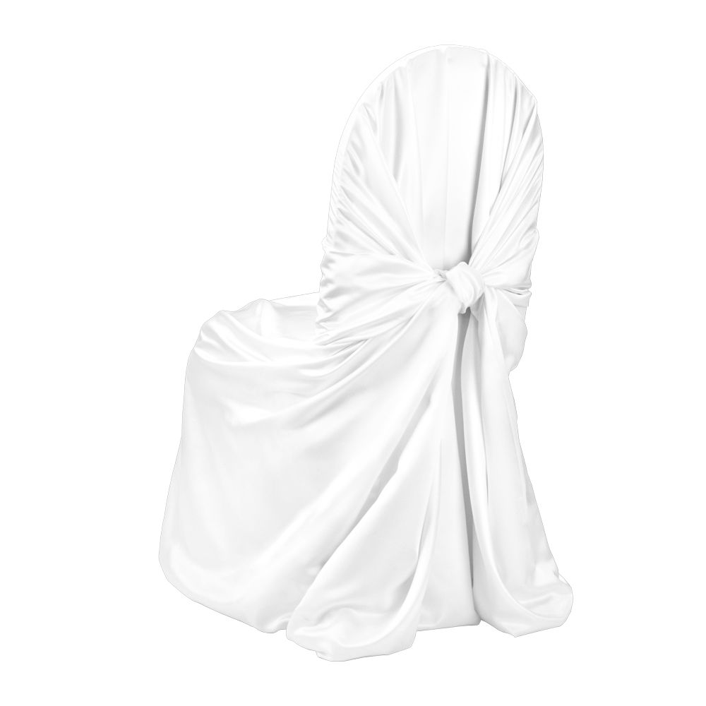 white duchess satin pillow case chair cover by chair covers linens