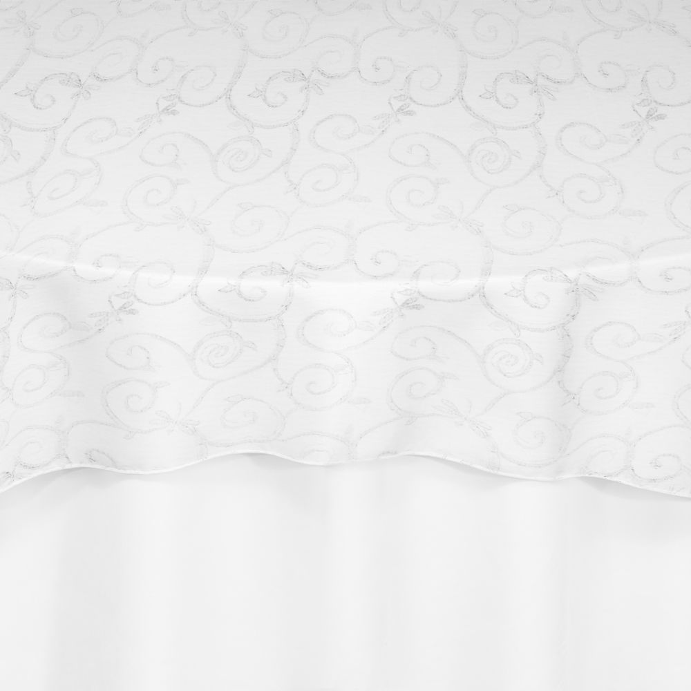 White Florence Lace Overlay