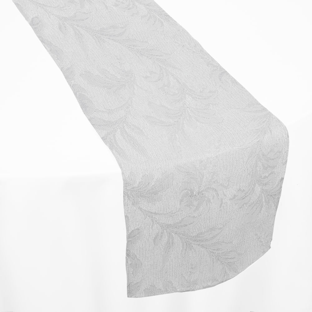 White Florentine Lace Table Runner