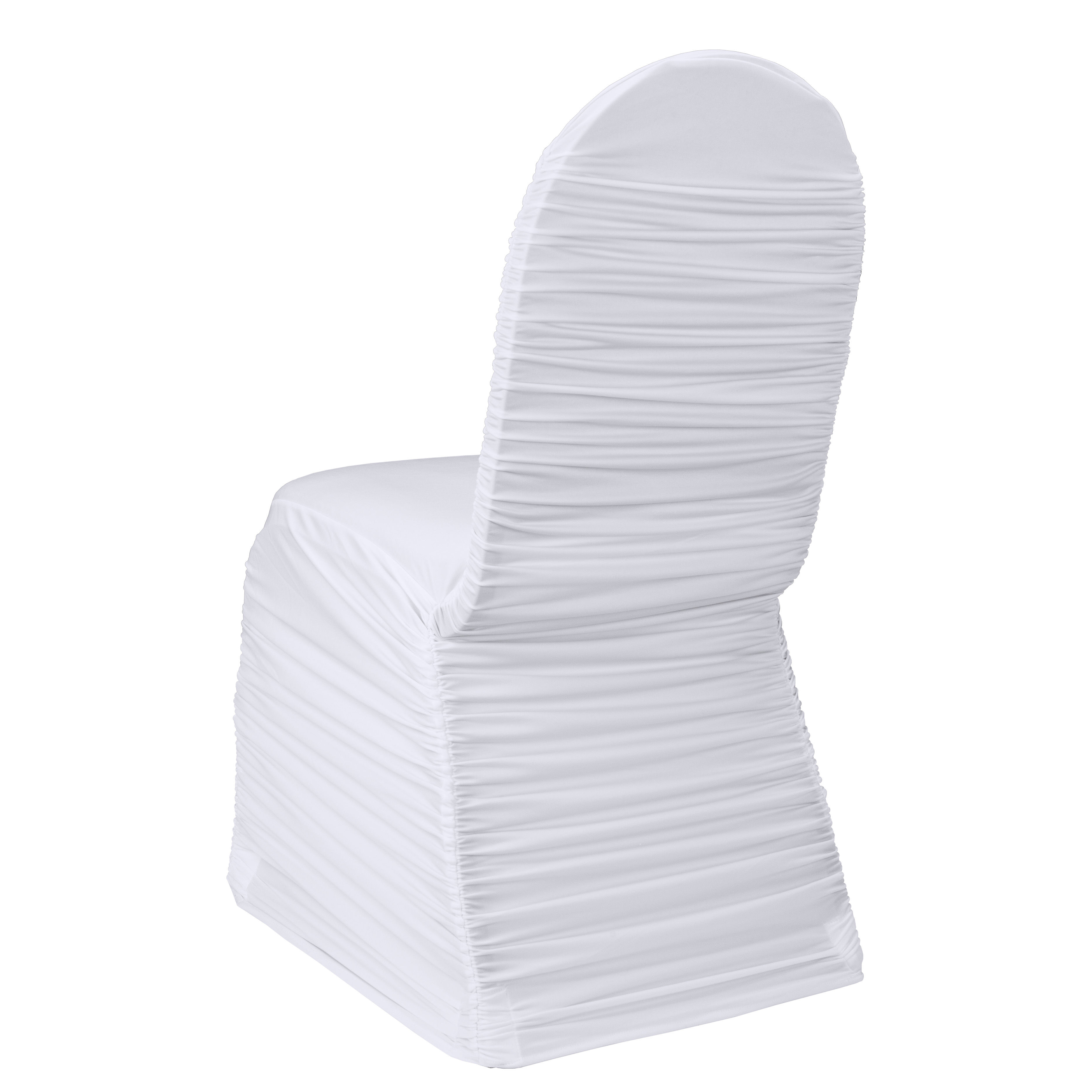 White Ruched Chair Cover