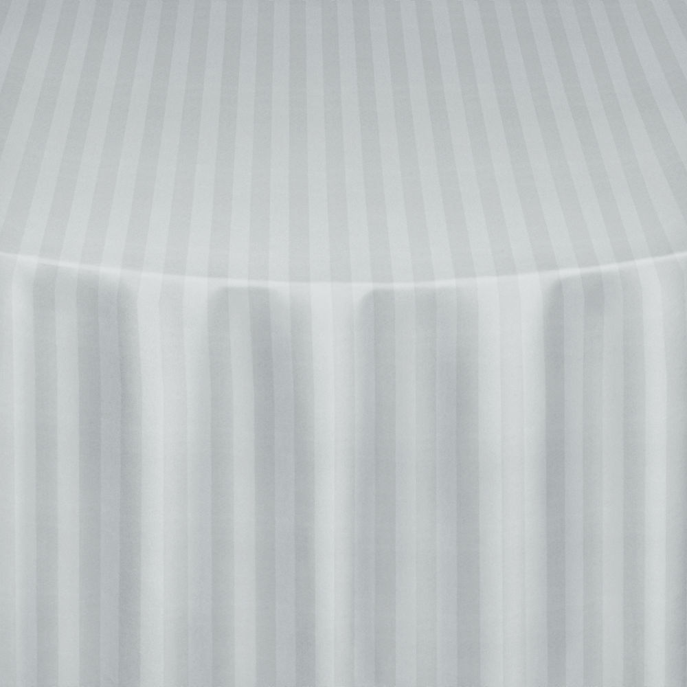 White Satin Stripe Table Linen