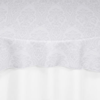 White Wellington Damask Overlay