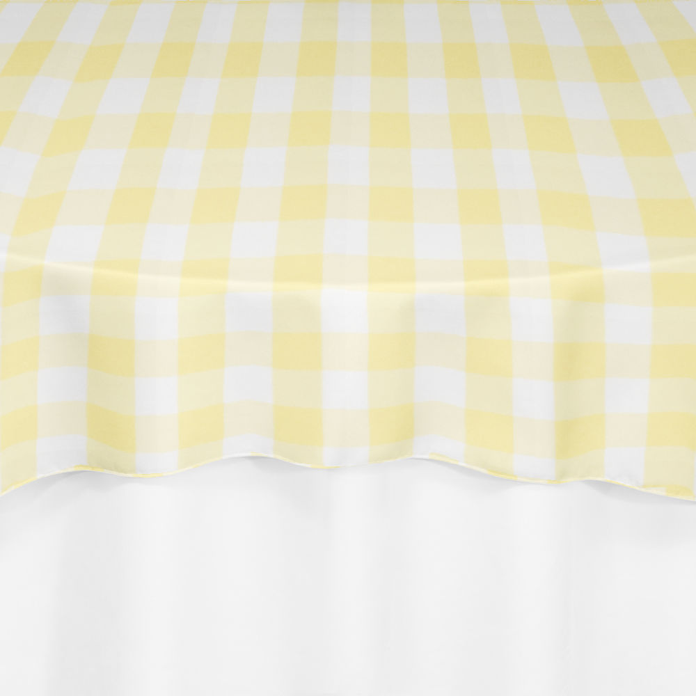 Surprising Yellow Gingham Overlay By Chair Covers Linens Andrewgaddart Wooden Chair Designs For Living Room Andrewgaddartcom